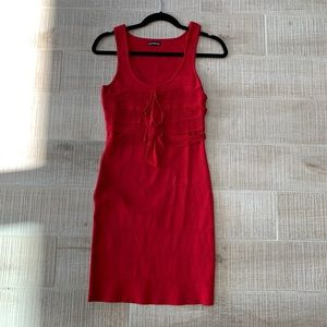 Express red mini dress s